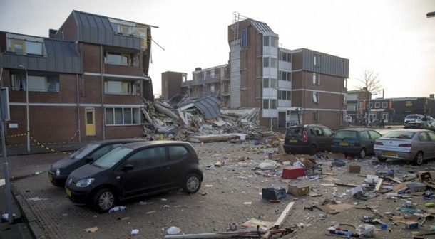 Взрыв в Нидерландах разрушил четырехэтажный дом